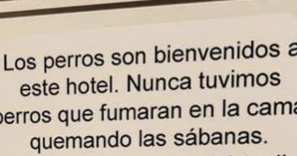 El cartel de un Hotel que revoluciona internet