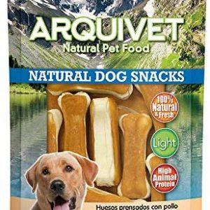 Arquivet Natural Dog Snacks Huesos prensados con pollo - Snacks
