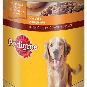 Pedigree Lata de comida humeda para perros adultos sabor pollo 12x800