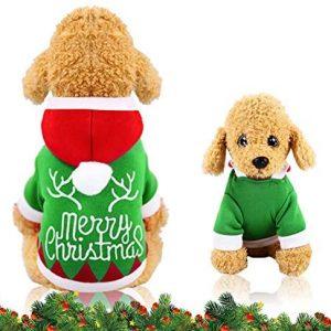 WELLXUNK® Perro Navidad Disfraz, Ropa navideña para Perro, Disfraz de