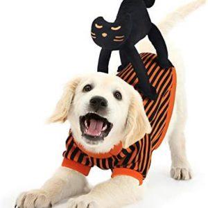 Abrigo Perro Navidad,Idepet Disfraz de Perro con Diseño de Gato