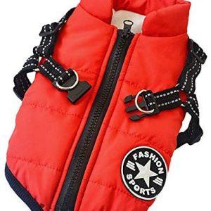 Aiboria Abrigo para perros de invierno, resistente al viento, impermeable,
