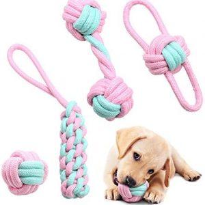 AnCoSoo Juguete de Cuerda para Perros, Juguetes para Perros Indestructibles