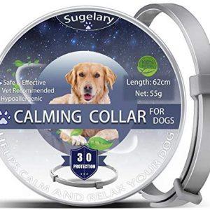 Collar de Perro Calmante, Collares de Perro Ajustables Anti-Ansiedad, Collar