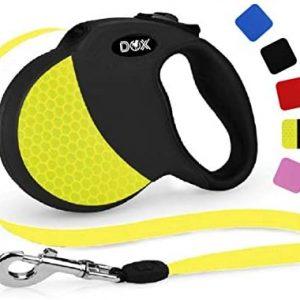 DDOXX Correa Extensible Perro, Reflectante, Retráctil | Muchos Colores &