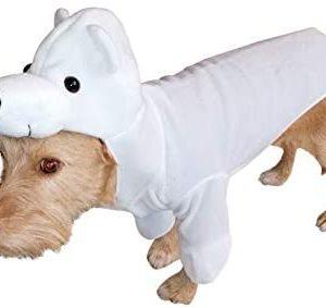 Disfraz de Oso Polar FH01 Talla S para Perros, Disfraces