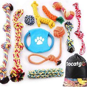Docatgo Grupo de Juguetes para Perros Durable Masticable Cuerda Soledad