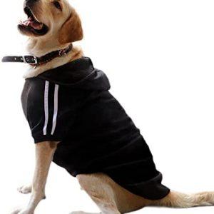 Eastlion Ropa Perro Grande,Cálido Sudadera con Capucha para Perros Algodón