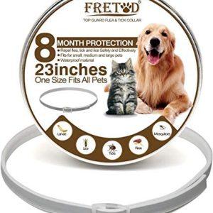 FRETOD Collares Antiparasitario para Perros y Gatos – 65cm Collares