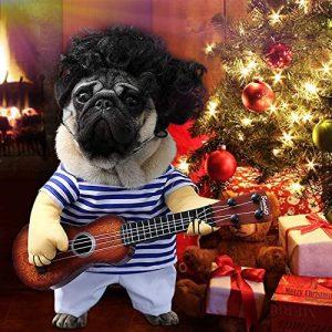 Idefair Funny Guitar Disfraces de mascotas para perros Puppy Cats