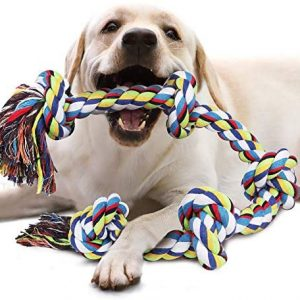 Juguetes de para perros, Juguete para masticar con 5 nudos