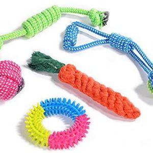 Juguetes para Perros, Puppy Chew Dog Rope Dentición Juguetes Interactivos,