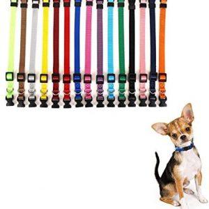 LOMYLM 15 collares para cachorros ajustables de 17,5 cm a
