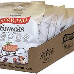 MEDITERRANEAN NATURAL Snacks Serrano, Pollo, 100 g, Perro