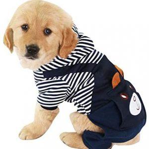 MiOYOOW Ropa Perro para Mascota, Abrigo de Oso Dibujos Animados