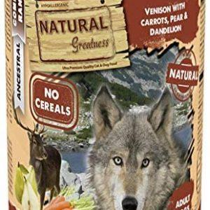 Natural Greatness Comida Húmeda para Perros de Venado con Zanahoria,