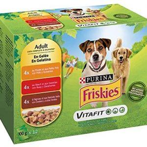 Nestlé Purina Friskies Comida húmeda para Perros Adulto con Pollo,