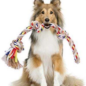 Nobleza - Cuerda de Juguete para Perros 100% algodón, beneficiosa