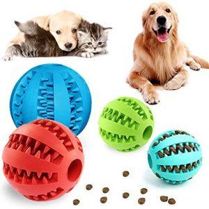 PUDSIRN 4 PCS Mascotas Pelotas de Juguetes para Perros, Pelota