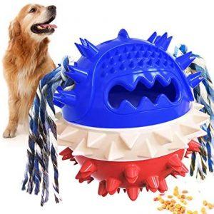 Pelota de Juguete para Perros, Juguetes para Cachorros con Dientes