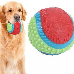 Pelota de juguete para perros, limpieza de dientes de goma