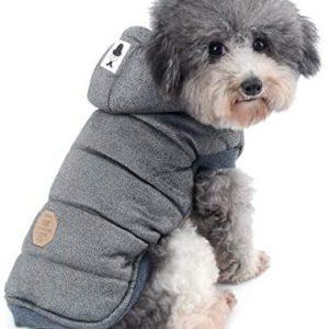 Ranphy Chaquetas de forro polar de algodón para perros pequeños,