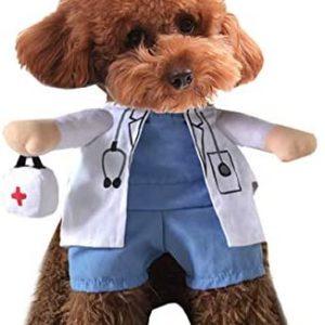 Xiaoyu Cachorro Perro Gato Disfraz de Halloween, Disfraz Estilo médico,