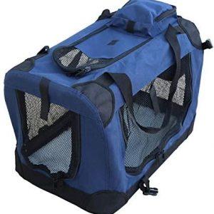 YATEK Transportin para Perros Plegable entradas Laterales y Superiores con