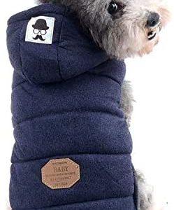 ZUNEA Chaleco de Perro pequeño Forro Polar Forrado Abrigo de