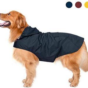 Zellar Impermeable para Perros con Capucha y Collar Agujero y