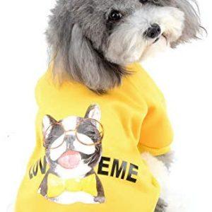 Zunea Sudadera para Perros Pequeños Ropa de Invierno Cálido Abrigo