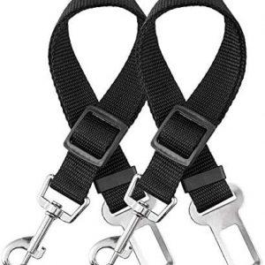 elloLife 2 Cinturón de Seguridad de Coche para Perros, Arnés