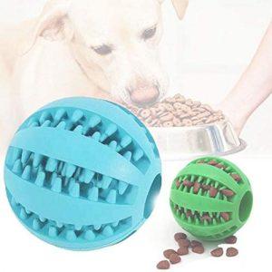 2 Piezas Pelota para Perros, Bola de Limpieza de Dientes