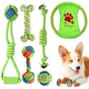 ACE2ACE Juguetes Cuerda para Perros Pequeños/Cachorros, 6pcs Cuerda de Juego