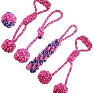 ASFINS Juguetes de Cuerda para Perros, 5 Piezas Mordedor Perro