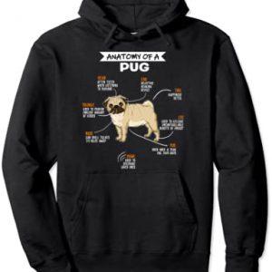 Anatomy Of A Pug Dog Regalo Divertido Perro Doguillo Sudadera