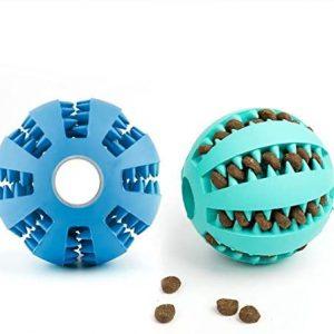 DEWEL 2pcs Pelota Perro Maticar Mascota Pet Ball Juguetes para