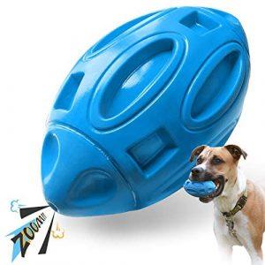 EASTBLUE Juguete chillón para perros para mordedores agresivos: Pelota de