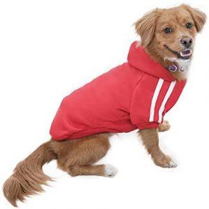 Eastlion Ropa Perro,Cálido Sudadera con Capucha para Perros Algodón Suéter