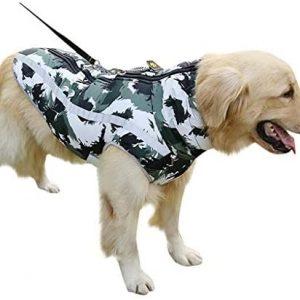 Fosspet Mascota Perro Ropa de Invierno Abrigo de Camuflaje, Reflectante