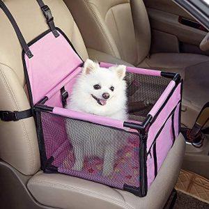 GENORTH Asiento del Coche de Seguridad para Mascotas Perro Gato