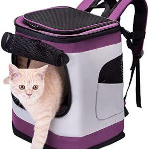 HAPPY HACHI Mochila Plegable para Perros Gatos Pequeño Mediano Transportín