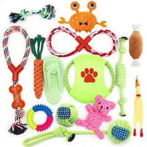 HEPAZ Juguetes para Perro,Juguetes para Masticar,Cuerda de algodón100% Natural,Juguetes para
