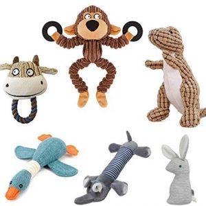 Hcpet Pack de 6 Squeaky Juguetes de Perros, Juguetes con