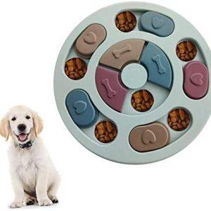Juguete para perros, alimentador lento, dispensador de golosinas para cachorros,