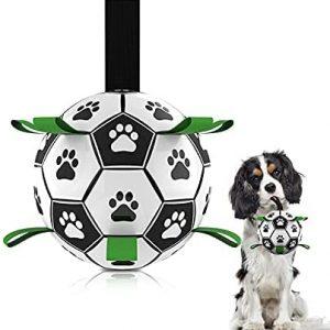 Juguetes Perros, Maegoo Balón de Fútbol para Perros, Pelota Juguete