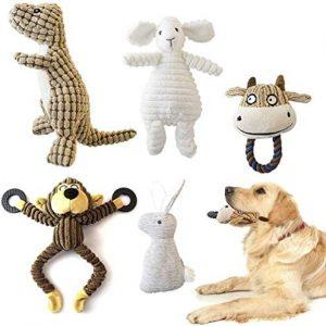 KONKY Juguetes para Perros, 5 Piezas Squeaky Toy Juguetes Duraderos