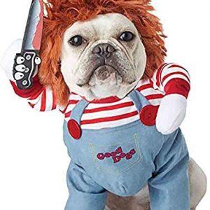 NIDAYE Mortal Muñeca Disfraces para perros de miedo Ropa de