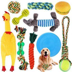 SaiXuan Juguetes para Perros,10PC Cuerda de Juguete para Masticar para