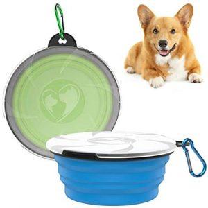 VavoPaw Tazón Plegable para Mascotas, [2 Piezas] Plato de Comida